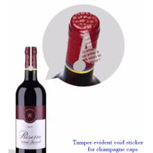 ZOLO beliebte benutzerdefinierte Sicherheit Aufkleber, void Sicherheit Anti-Fälschung Marke Wein Etikett