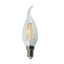 Filamento de LED luz C30L-Cog 4W 470lm E14 4PCS filamento