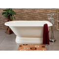 Enamel Cast Iron Bathtub With Pedestal Base