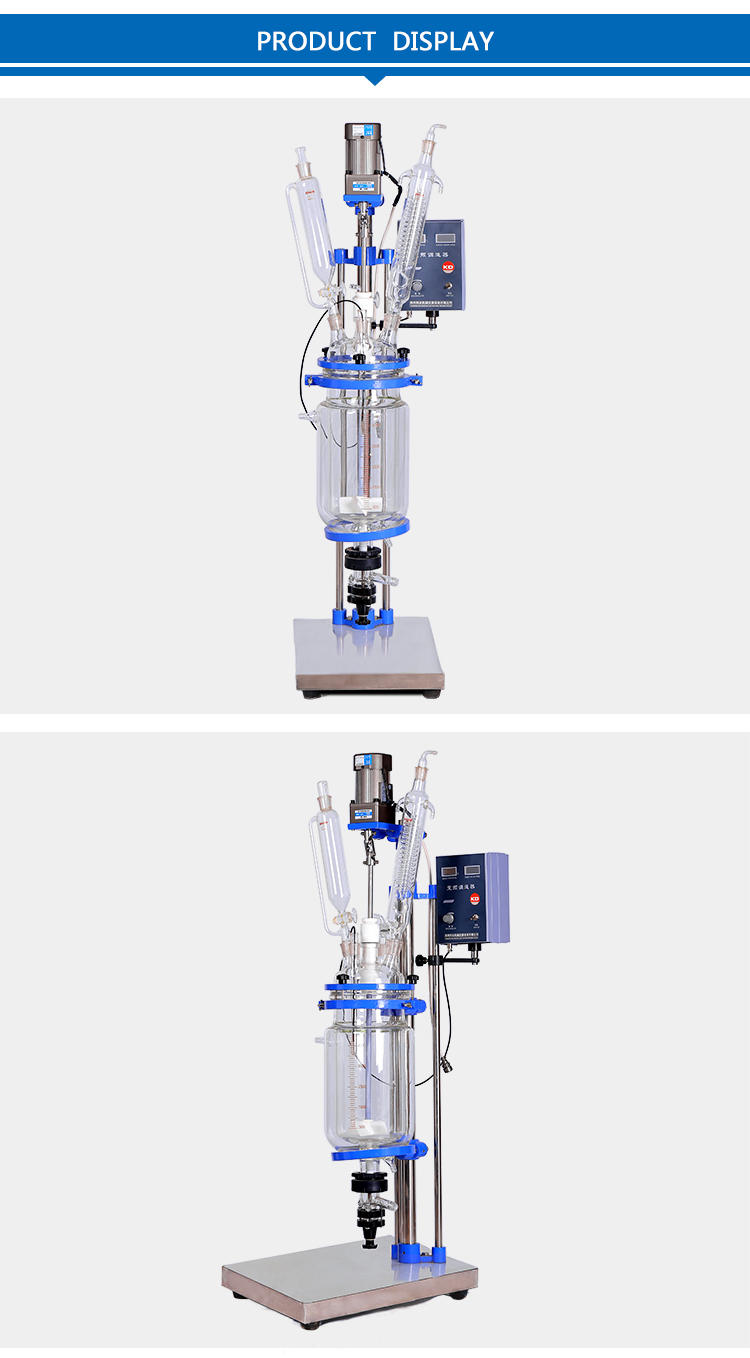 5L Laboratory Fermentation Jacketed Glass Reactor