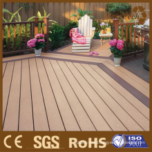 Widely Used in Private Garden and Park WPC Decking 135*25mm