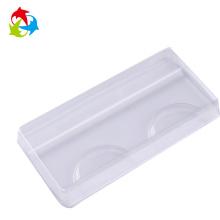 Cosmetic empty clear plastic eyelash tray