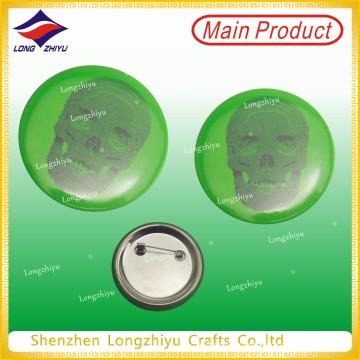 Зеленая печать Tinplate Знак отворота Pin печатных белой жести