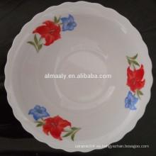 plato de sopa de cerámica vendedor caliente del borde cortado de los artículos de cerámica