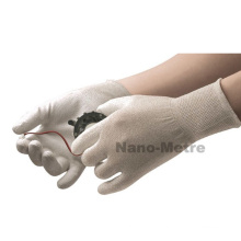 NMSAFETY nylon-carbon kintted light and flexible PU ESD gloves /anti-static gloves