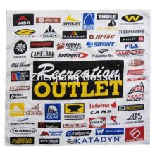"Custom Made Logo imprimé coton promotionnel 22 ""* Bandeau bandana carré de 22 po"