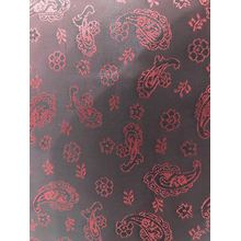 Red Flower Water Drop Jacquard Lining