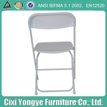 Cadeira de dobradura plástica do quadro do metal branco para o partido