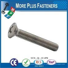 Fabriqué en Taiwan ISO 7047 Croix en acier encastré à tête ovale à tête découpée Acier à faible teneur en carbone en zinc plaqué