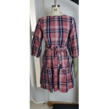 Summer Dresses Ladies Red and White Check Dress