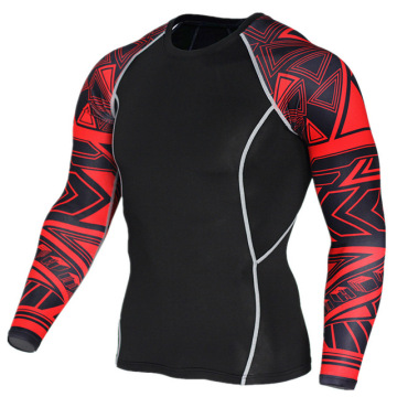 Sportswear Rash Guard Tillverkare för män 3d Printing Sublimation Compression Rash Guard