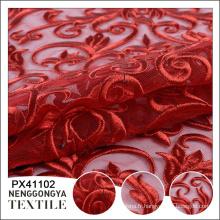 Logo personnalisé Différents types de dentelle de tissu de broderie de partie tricotée