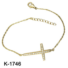 925 Серебряный браслет CZ (K-1746. JPG)