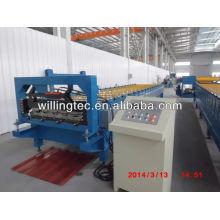 Hydraulische Schneid-tragbare Metall-Dach-Roll-Formmaschine in China hergestellt