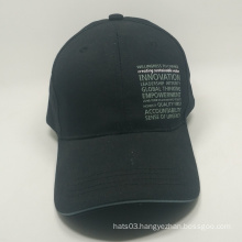 wholesale 100% cotton printed black baseball caps and hats