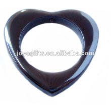 Hématite Big Heart Drop Pendants