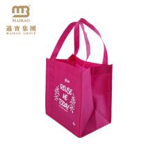 El totalizador reutilizable resistente de la tela durable barata de la alta calidad lleva bolsos de compras no tejidos con los logotipos de encargo impresos