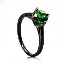 Conception d'anneau d'or de bijoux en cuivre noir à la mode pour la fille