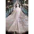 LS00166 O-neck cap sleeve appliques bead elegant peplum long train fat ladies custom wedding dress