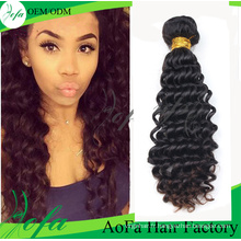 Extension naturelle de cheveux de Remy de cheveux vierges naturels non traités de 100%