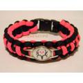 4meters 550 paracord braided bracelet plastic buckle