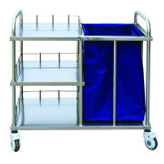 Stainless Steel Trolley for Treatment, Oxford Cloth Bag for Waste, CE and FDA Approved