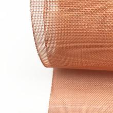 180 und 200 Mesh Stock elektronische Abschirmung Gebrauchte Red Copper Woven Maschendraht