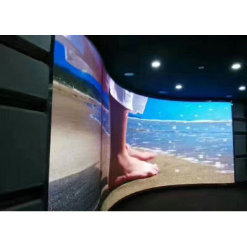 Fixed Wide Viewing Angle Indoor Curved LED Display