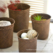 (BC-ST1078) Good Quality Pure Manual Natural Straw Laundry Basket