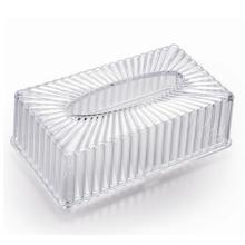 Plastik Kristall Rechteck Tissue Box (ZJH026)