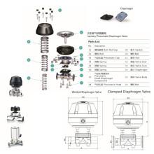 Sanitary Stainlss Steel Pneumatic Diaphragm Valve (RG)