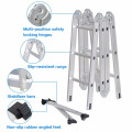 Finether 12.1ft Heavy Duty Aluminum Multi Position Folding Extension Ladder with 2 Panels 330lb Capacity