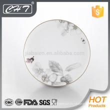 Placas de cena de cerámica de hueso de la mariposa A018