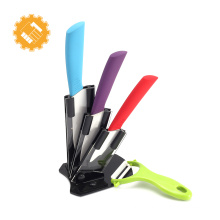 5 pièces de couteaux en céramique de haute qualité à la mode avec un éplucheur de fruits