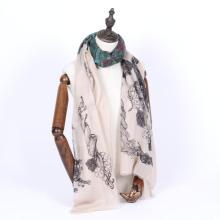 Casaco de lenço de cashmere de verão super fino e de tela impressa