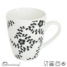 10oz White Porcelain with Full Decal Grass Mug