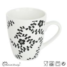 10 oz de porcelana blanca con taza de hierba de etiqueta completa