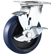 Heavy Duty Swivel Plate Elastische Gummi Caster mit Side Break