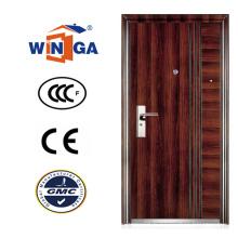 Brown Color Serbie Croatie Winga Style Security Steel Door (WS-128)