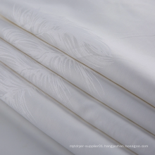 White Organic Cotton Jacquard Fabric for Hotel