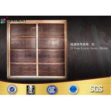 Customized Bedroom PVC Wardrobe Sliding Door Design Eco Fri