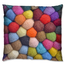 Weave Pattern Series wool knit candy color cushion