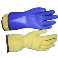 NMSAFETY guantes de invierno personalizados con recubrimiento de pvc largo