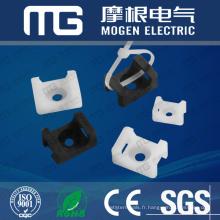 Supports de fixation de câble en nylon de Type de selle, douille pour attaches de câble avec UL94V-2, approbation de la CE