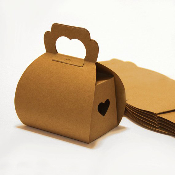 Custom Foldable Small Kraft Paper Cookie Bread