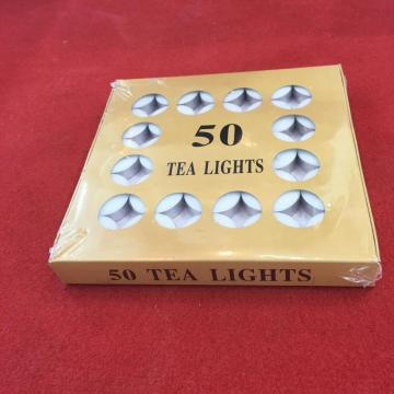 VELA DE TEALIGHT COLOR BLANCO 50 UNIDS