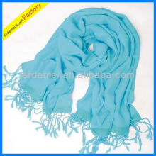 Pure viscose custom plain blue scarf maker