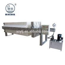 Minghua 1000x1000mm cámara filtro prensa industria química