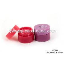 Fabricación de Yiwu redondo caja Lip Balm