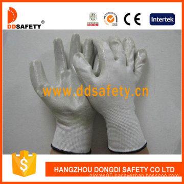 White Nylon with Grey Nitrile Glove-Dnn332